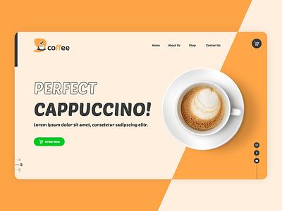 Coffee Shop Landing design freebies adobexd restaurant uidesign webdesign landingpage coffee shop coffee