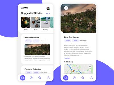 Yamu App Design Concept apple adobe xd ios app ios app mobile app design mobile ui mobile app uidesign
