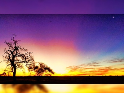 Colourful Outback Sunset