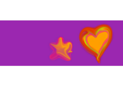 Glowing Star and Heart Banner template