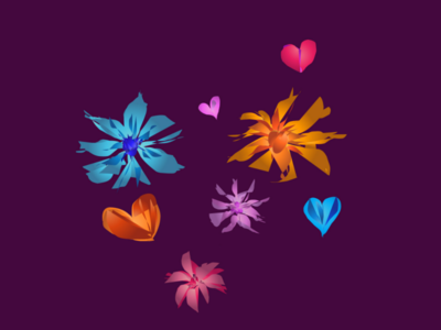 Carefree Flowers and Hearts