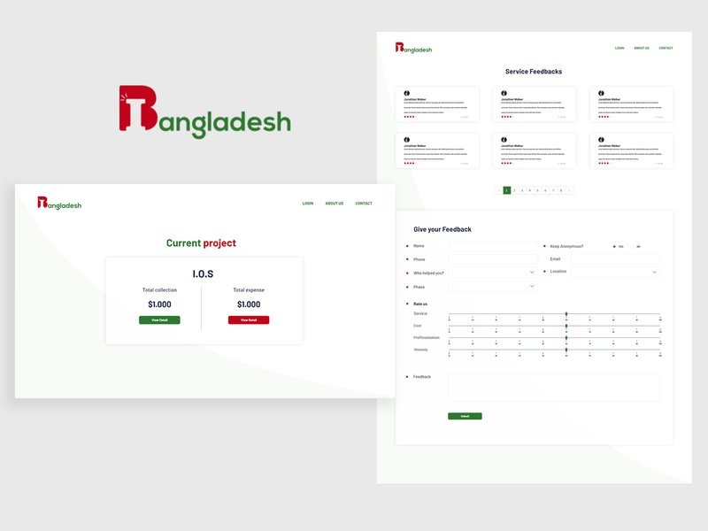 Inspiring bangladesh logo/website ui logo website web flat ux ui minimal design adobe