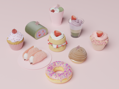3d pastries 3d illustration 3d art