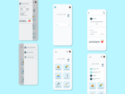 Redesign Concept: Alice Guest Application ios app redesign concept concierge sidebar clean ui product design mobile ui redesign hospitality hotel app