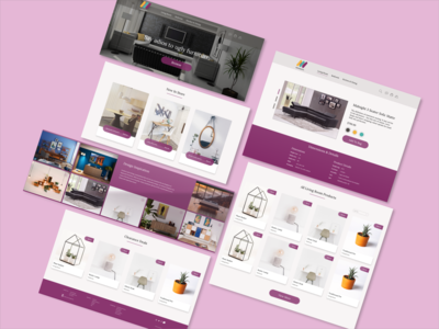 Project: Maynooth Furniture (Desktop) website brand identity branding ux  ui web design furniture store desktop design