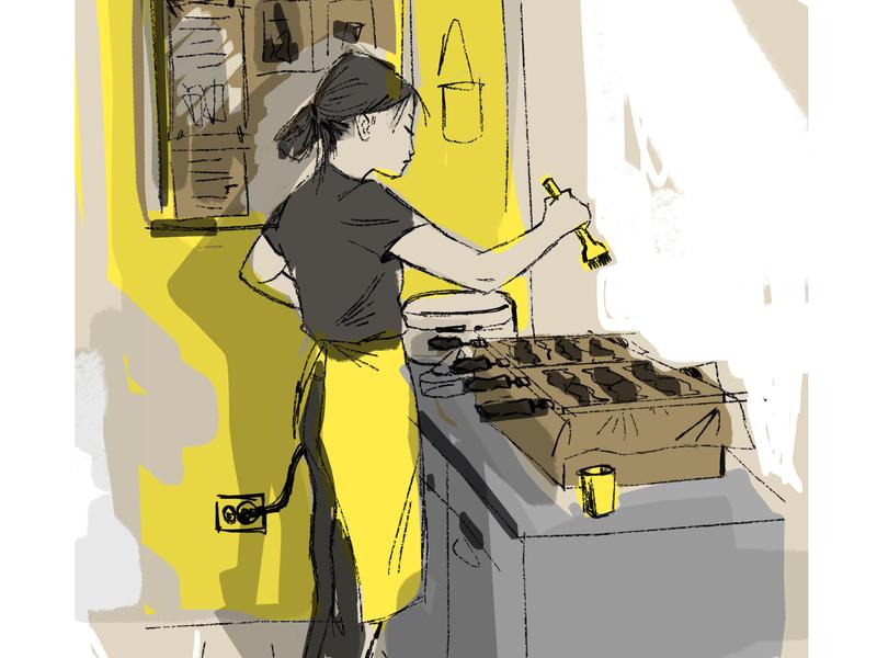 タイ焼き character design illustration artwork art