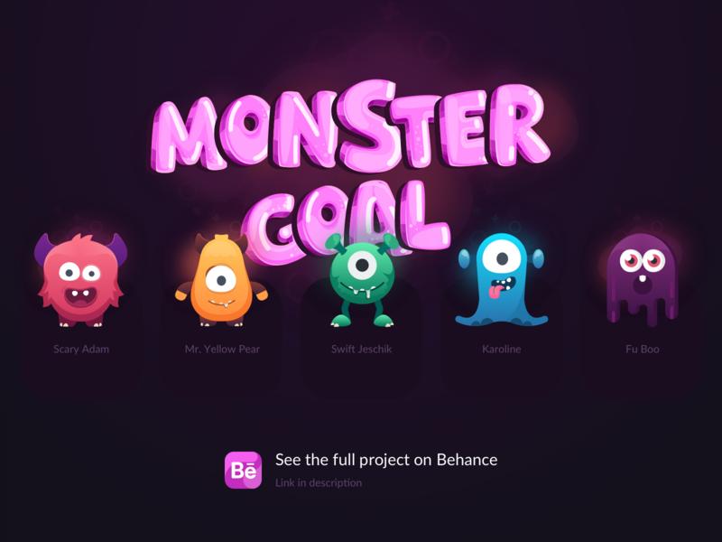 Monstergoal character design character design logo iphone illustration icon minimalism ui ux ios