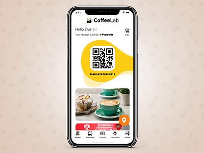 Coffee Lab branding logo design icon minimalism button animation ux ui ios