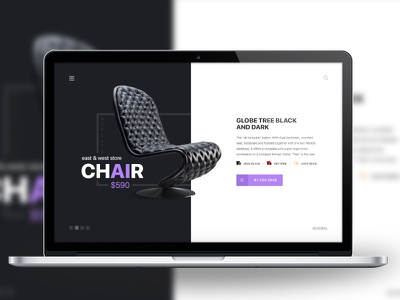 The Armcair! ux ui button typography minimalism armchair chair animation web