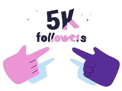 5000 followers! Thank you development digital agency motion illustration web app productdesign ux ui thankyou