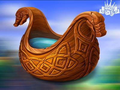 A Viking ale bowl as a slot symbol
