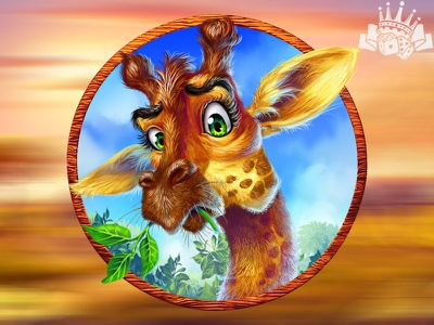 Another Slot symbol - a Giraffe 🦒🦒🦒 slot machine game slot machine art slot game design savannah slot savannah themed savannah africa themed africa slot giraffe slot art giraffe symbol giraffe slot giraffe game art gambling graphic design game design