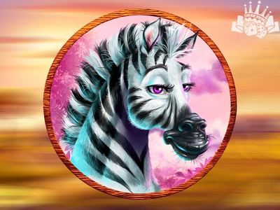 A Zebra as a slot game symbol⁠ slot machine graphics slot game graphics africa slot machine africa themed africa themed slot savannah slot game savannah slot savannah symbols zebra illustration zebra art zebra design zebra slot symbol zebra symbol zebra slot zebra themed slot graphic design gambling game art game design