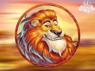 A Lion as a slot symbol 🦁🦁🦁 slot game graphics slot machine graphics slot machine development slot game development slot symbol development africa themed slot africa themed africa slot savannah themed slot savannah themed lion themed lion themed slot lion slot symbol lion symbol graphic design gambling game art game design