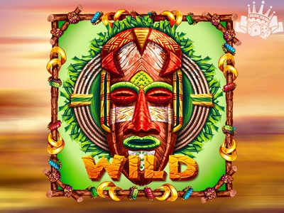 An African Mask as WILD symbol slot machine design slot machine art slot game graphics slot symbol development slot symbol developer mask slot mask slot symbol african slot african themed mask symbol african symbol african mask mask graphic design gambling game art game design