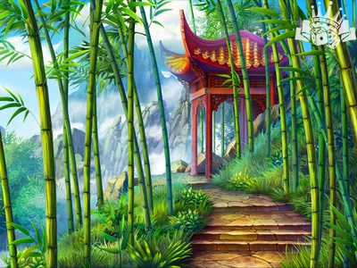 Slot Game Background for the Oriental Themed 🐼🐼🐼 slot game illustration slot illustration slot machine art slot game background background slot background design background image background art background pandaearth panda themed panda slot panda symbol panda game art game design