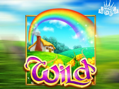 Rainbow as a WILD slot symbol slot game art slot machine art slot machine graphics slot game graphics irish slot irish slot machine irish slot game irish themed slot irish themed rainbow slot symbol rainbow art rainbow illustration rainbow design rainbow symbol rainbow slot machine illustration graphic design game art game design