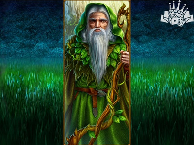 A Druid as a High slot symbol illustration slot machines graphic design slot design gambling game art game design