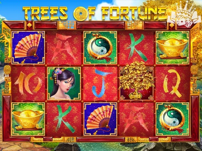 """Game Reels of the slot machine """"Trees of Fortune"""" slot game development slot game developer slot machine design slot machine art slot game graphics slot game art slot reels slot game reels game reels slot machine slot machines casino digital art slot design graphic design gambling game art game design"""
