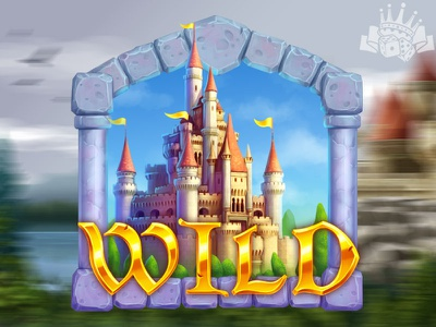 A Castle - Wild slot symbol slot graphics casino slot game casino design casino games casino slot wild slot symbol wild symbol wild symbol illustration symbols slot machine game design digital art slot design graphic design gambling game art