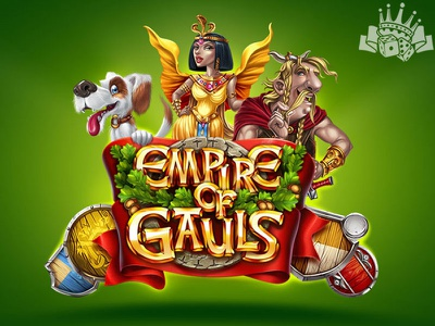 "Splash screen for the slot machine ""Empire of Gauls"" gauls slot gauls themed gauls slot game design slot game art casino slot casino design casino games casino illustration game illustration illustration slot machines slot design graphic design gambling game art game design"