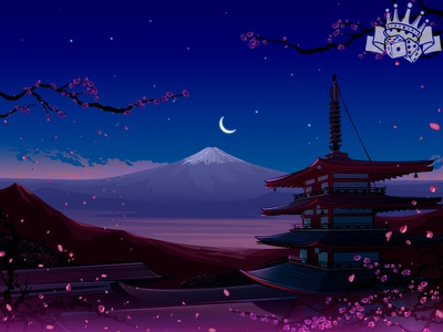 Japanese Themed slot game Background slot machine slot art game designer slot game design game illustration slot game art slot illustration background game background illustration background design background art background illustration slot machines digital art slot design graphic design gambling game art game design