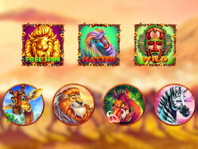 Savannah Slot game - Symbols Animation slot characters slot symbols design slot symbols art slot symbols animated animals animal art animation slot slot animation symbols animation animals symbols african animals wild nature symbols wild nature savannah symbols digital art slot design game art game design graphic design gambling
