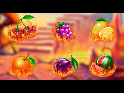 Hell Fruits slot symbols animation game design animator casino animation casino slot animation casino game design motion design motion graphics game animators slot animators game animation slot animation animation slot animated symbols symbols animation symbol design digital art graphic design gambling game art game design