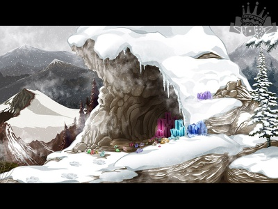 """Another Game Background for the slot """"Snow Kingdom"""" winter illustration snow themed illustration snow themed game slot image slot design slot background slot illustration background illustration background art background image background design background graphic design gambling game design"""