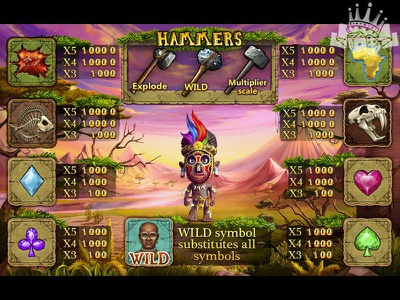 Paytable Design for African themed slot paytable art paytable design paytable slot machine design slot game design african game african themed african slot casino design csino slot slot game art game designers graphic art design illustration digital art slot design graphic design game art game design