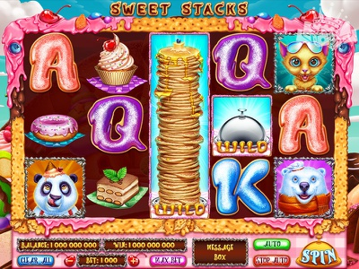 The Main UI for the Sweets themed slot game user interface ui design main ui reel game slot machine reels slot game reels slot art reels art reels design reels slot machine design slot machine art slot game design slot game art sweet themed sweet slot sweet gambling game art game design