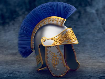 Special 3D slot symbol - Helmet game art 3d graphic gambling slot design helmet shield cleopatra empire caesar symbols modeling sketches