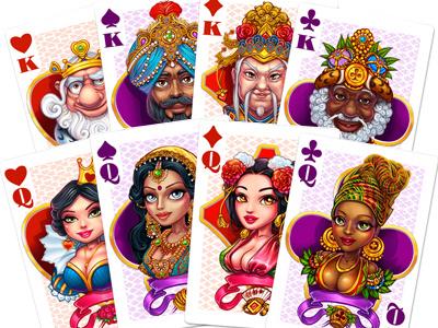 Poker cards digital art graphic design suits cards slot design game design game art online casino gambling slot machine