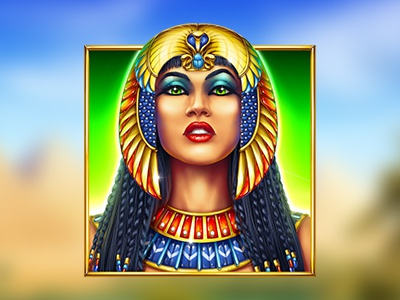 Cleopatra beautiful cleopatra symbol queen casino online egyptian slot design game design concept art digital art game art