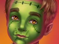 Children's mask for halloween