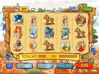 "For SALE Slot machine - ""Greek Legends"" gods olympus aphrodite hercules pegasus mythology ancient hades zeus athena legends greek"