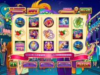 "For SALE Slot machine - ""Mardi Gras Mania"""