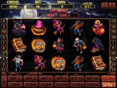"Slot machine for SALE – ""Freaks Fortune"" halloween freaks frankenstein fortune fire emblem dracula demoness cloak castle broom book"