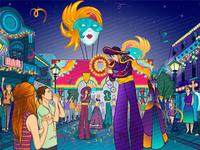 Background illustration for the online slot