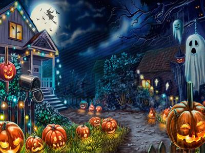 Background image of the Casino Slot pumpkin demoness night moon halloween vampires vampire tombstones evil dracula dark cross corpses castle book bones blood