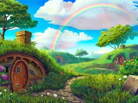 """Background Image - online slot """"Irish Luckyland"""""""