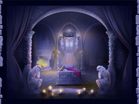 """Background Illustration for casino online slot """"Vampires"""""""
