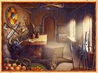 Viking hut for the Online slot Background