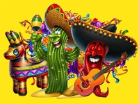 "Main Logotype for the Online slot game - ""Mexican Fiesta"""