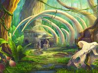Dinosaur Slot Game Background