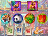 Chinese symbols set for online slot game