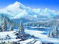 "Main Background for the online casino slot ""Nordic Wolf"""