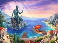 Poseidon Online slot game - Main Background