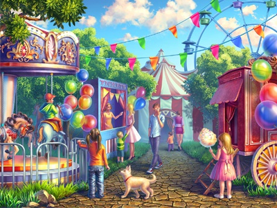 "Colorful background for online slot ""Circus"" background design background image background art illustration background slot machines digital art casino slot machine game art graphic design gambling game design"