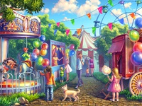 "Colorful background for online slot ""Circus"""